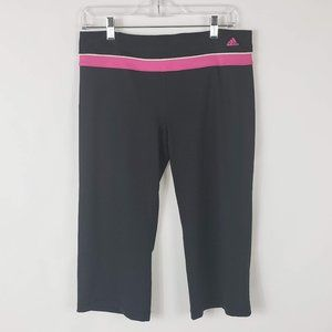 Adidas Climalite Black/Pink Athletic Cropped Pants